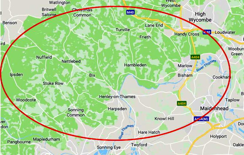 Oxon, Buckinghamshire zone