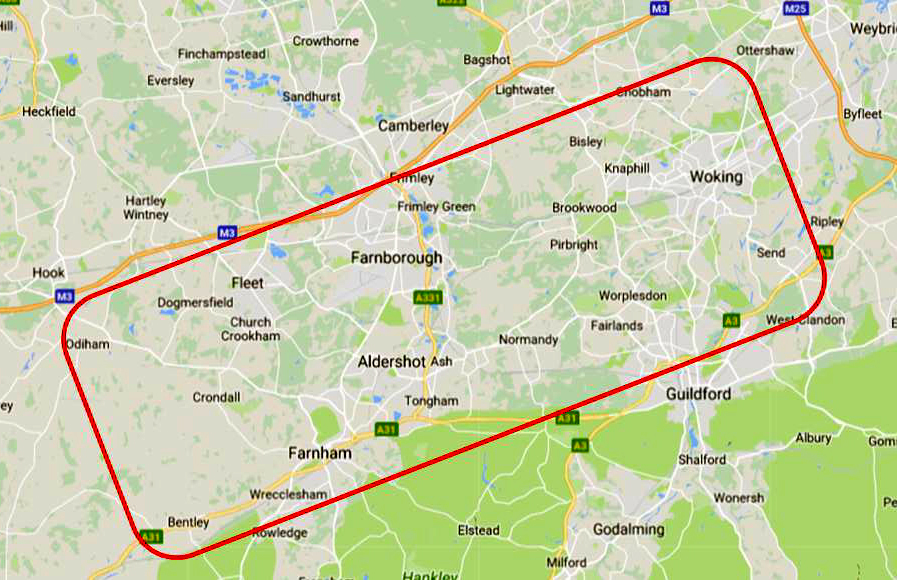 South hants and Surrey zone